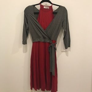 Anthropologie wrap dress with tags